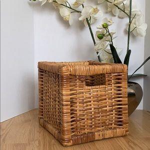"""IKEA square wicker basket size 9""""x9""""x9"""""""